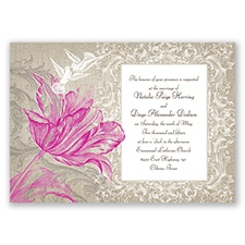 Vintage Love - Begonia - Invitation
