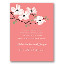 Dogwood Blossoms - Coral Reef - Save the Date