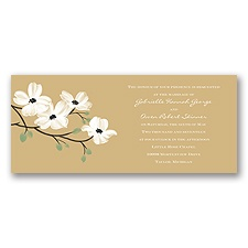 Dogwood Blossoms - Golden - Invitation