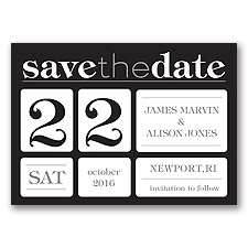 Delightful Date - Black - Save the Date Magnet