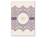 Wrapped In Lace - Table Number Card