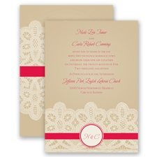 Wrapped In Lace - Poppy - Invitation
