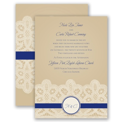 Wrapped In Lace - Regency - Invitation