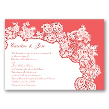 Lacy Delight - Guava - Invitation
