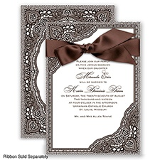 Vintage Romance - Chocolate - Invitation