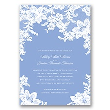 Lace Fantasy - Bluebird - Invitation
