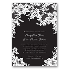 Lace Fantasy - Black - Invitation