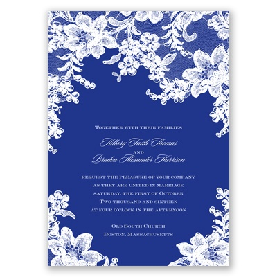 Lace Fantasy - Regency - Invitation