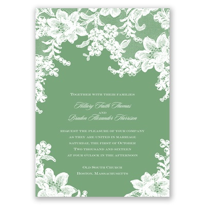 Lace Fantasy - Clover - Invitation