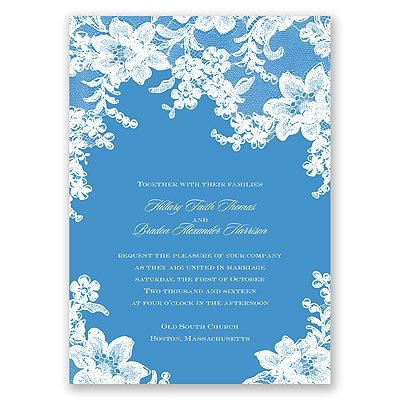 Lace Fantasy - Cornflower - Invitation