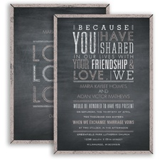 Pretty Proclamation - Biscotti - Invitation