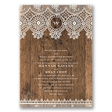 Barnwood & Lace - Invitation