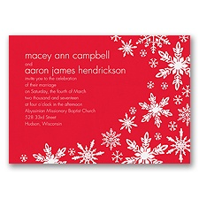 Snowflake Melody - Poppy - Invitation
