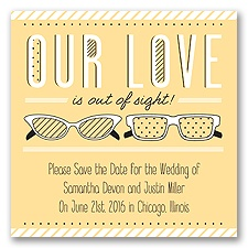 Out of Sight - Buttercream- Save the Date Magnet