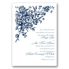 French Floral Fashion - Marine - Invitation