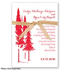Forest Romance - Poppy - Invitation