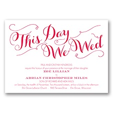 Gracefully Wed - Poppy - Invitation