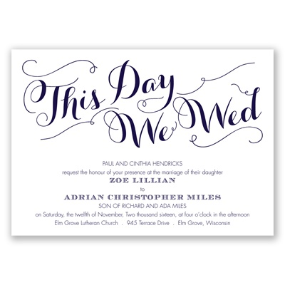 Gracefully Wed - Lapis - Invitation