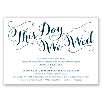 Gracefully Wed - Peacock - Invitation