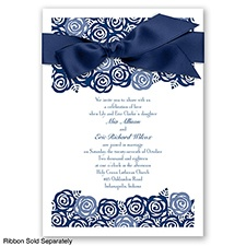 Just Rosey - Marine - Invitation