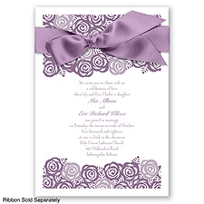Just Rosey - Wisteria - Invitation