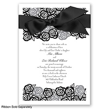 Just Rosey - Black - Invitation