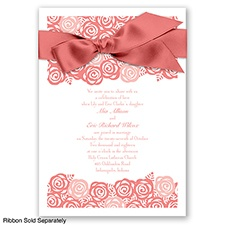 Just Rosey - Coral Reef - Invitation