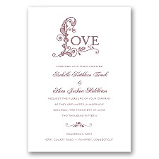 Only Love - Rosewood - Invitation
