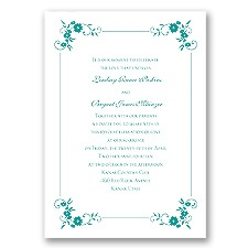 Blossoms Galore - Jade - Invitation