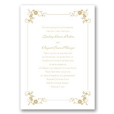 Blossoms Galore - Golden - Invitation