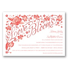 Love Blooms - Guava - Invitation