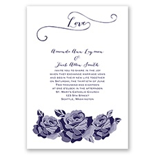 Love In Full Bloom - Lapis - Invitation