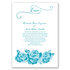 Love In Full Bloom - Malibu - Invitation