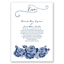 Love In Full Bloom - Marine - Invitation