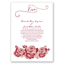 Love In Full Bloom - Apple - Invitation