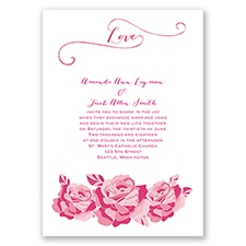 Love In Full Bloom - Watermelon - Invitation
