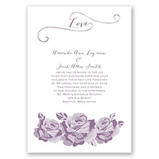 Love In Full Bloom - Wisteria - Invitation