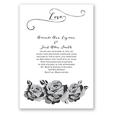 Love In Full Bloom - Black - Invitation