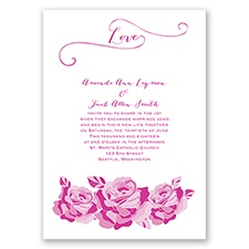 Love In Full Bloom - Begonia - Invitation