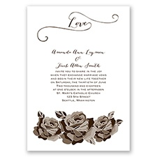 Love In Full Bloom - Chocolate - Invitation