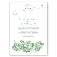 Love In Full Bloom - Clover - Invitation