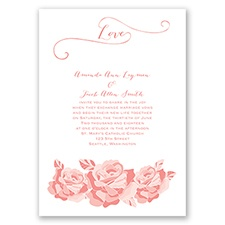 Love In Full Bloom - Coral Reef - Invitation