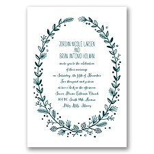 Pine Cone Wreath - Gem - Invitation