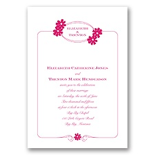 Sweet Daisies - Watermelon - Invitation