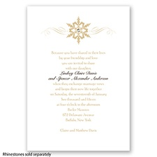 Snowflake - Golden - Invitation