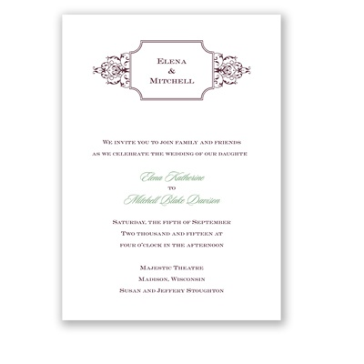 So Sophisticated - Plum - Invitation