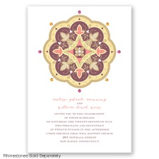 Indian Tile - Rosewood - Invitation