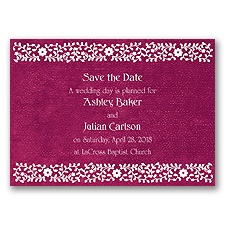 Moroccan Mystery - Begonia - Save the Date Magnet