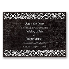 Moroccan Mystery - Black - Save the Date Magnet