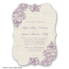 Lace Melody - Wisteria - Invitation